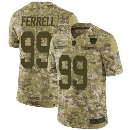 Raiders #99 Clelin Ferrell Camo Youth Stitched Football Limited 2018 Salute to Service Jersey