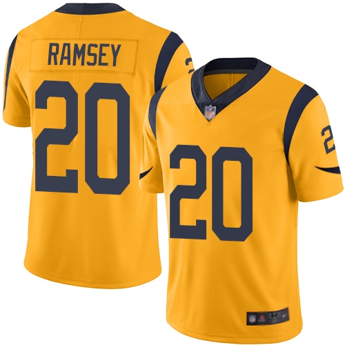 Rams #20 Jalen Ramsey Gold Youth Stitched Football Limited Rush Jersey
