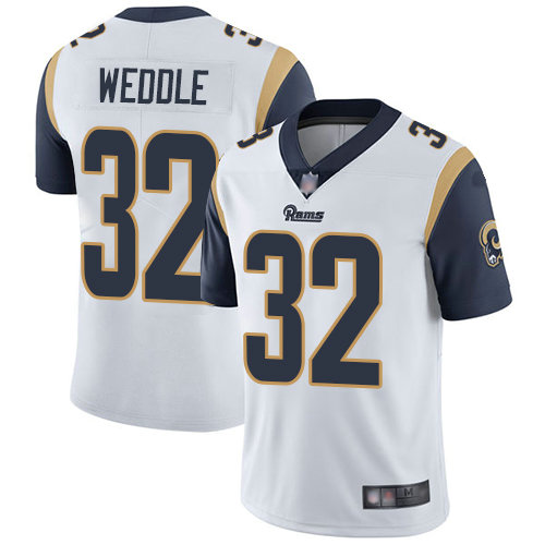 Rams #32 Eric Weddle White Men's Stitched Football Vapor Untouchable Limited Jersey