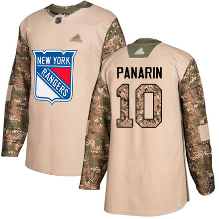 Rangers #10 Artemi Panarin Camo Authentic 2017 Veterans Day Stitched Youth Hockey Jersey