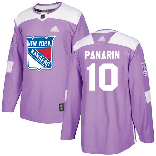 Rangers #10 Artemi Panarin Purple Authentic Fights Cancer Stitched Youth Hockey Jersey