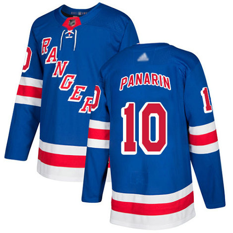 Rangers #10 Artemi Panarin Royal Blue Home Authentic Stitched Youth Hockey Jersey