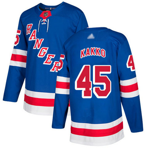 Rangers #45 Kaapo Kakko Royal Blue Home Authentic Stitched Youth Hockey Jersey