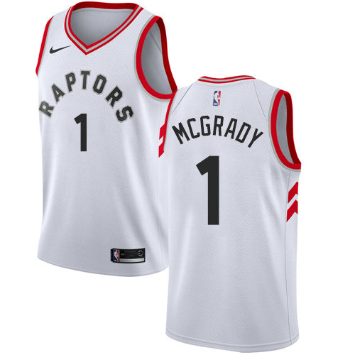 Raptors #1 Tracy Mcgrady White Basketball Swingman Association Edition Jersey