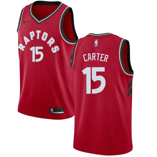 Raptors #15 Vince Carter Red Basketball Swingman Icon Edition Jersey