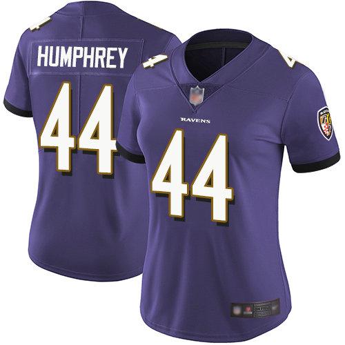 Ravens #44 Marlon Humphrey Purple Team Color Women's Stitched Football Vapor Untouchable Limited Jersey