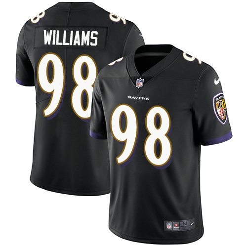 Ravens #98 Brandon Williams Black Alternate Youth Stitched Football Vapor Untouchable Limited Jersey