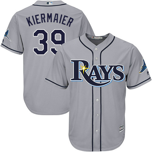 Rays #39 Kevin Kiermaier Grey Cool Base Stitched Youth MLB Jersey
