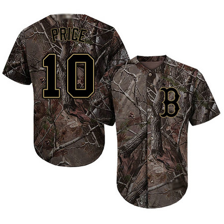 Red Sox #10 David Price Camo Realtree Collection Cool Base Stitched Youth Baseball Jersey