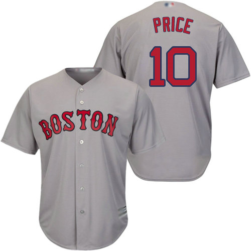 Red Sox #10 David Price Grey Cool Base Stitched Youth Baseball Jersey