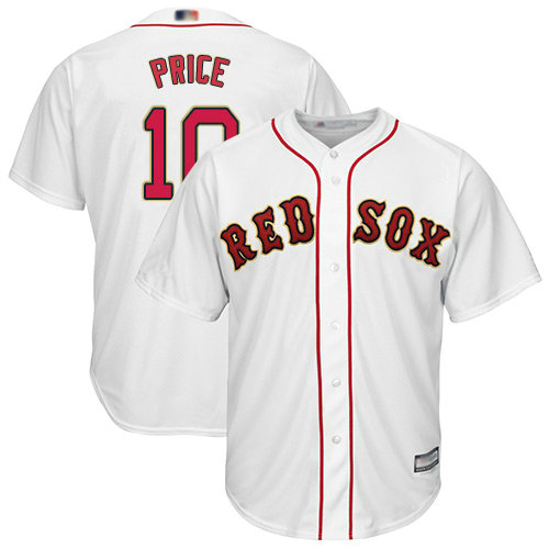 Red Sox #10 David Price White Cool Base Stitched Youth Baseball Jersey