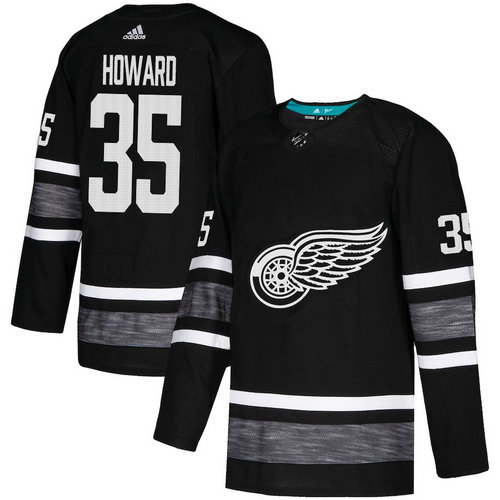 Red Wings #35 Jimmy Howard Black Authentic 2019 All-Star Stitched Hockey Jersey