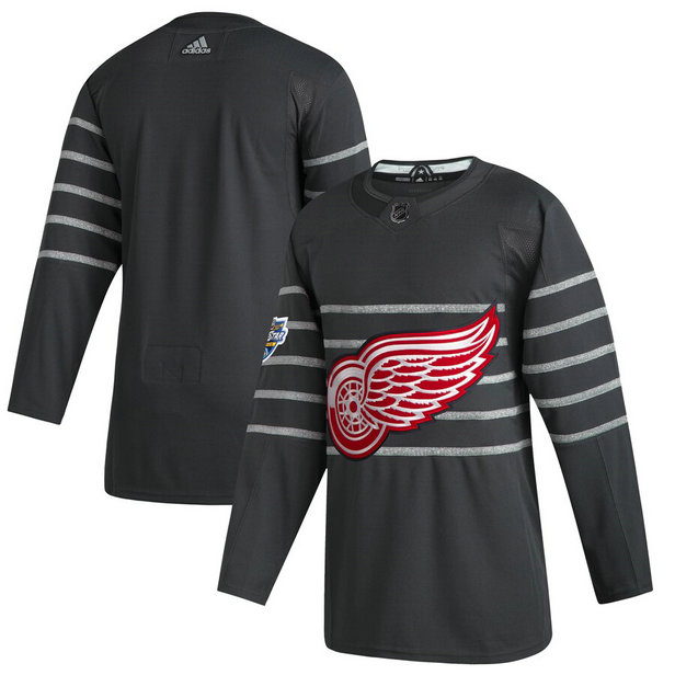 Red Wings Blank Gray 2020 NHL All-Star Game Adidas Jersey