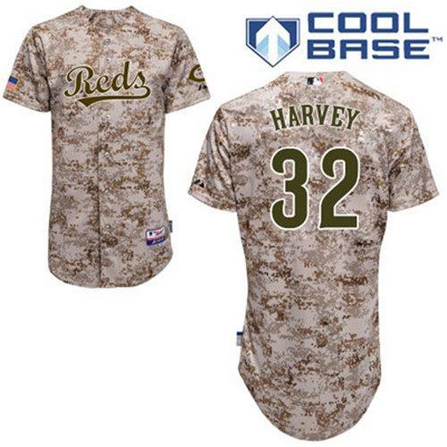 Reds #32 Matt Harvey Camo Cool Base Stitched Youth Baseball Jersey