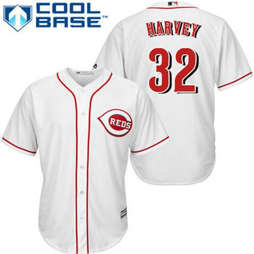Reds #32 Matt Harvey White Cool Base Stitched Youth Baseball Jersey