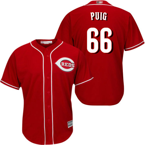 Reds #66 Yasiel Puig Red New Cool Base Stitched Baseball Jersey