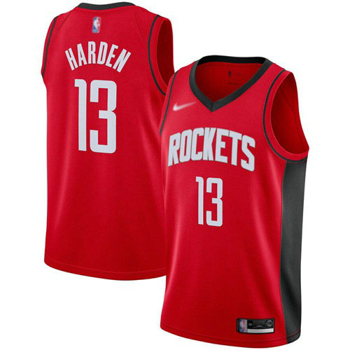 Rockets #13 James Harden Red Basketball Swingman Icon Edition 2019 2020 Jersey