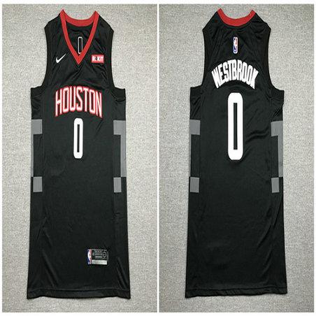 Rockets 0 Russell Westbrook Black Nike Swingman Jersey1