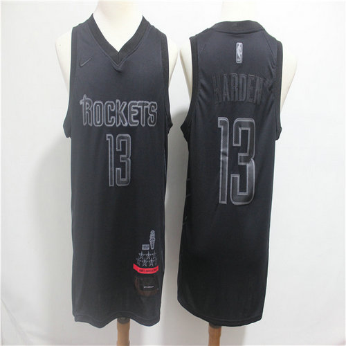 Rockets 13 James Harden Black Nike Swingman MVP Jersey
