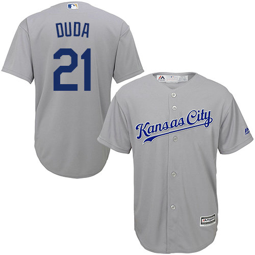 Royals #21 Lucas Duda Grey Cool Base Stitched Youth MLB Jersey