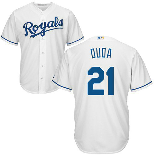 Royals #21 Lucas Duda White Cool Base Stitched Youth MLB Jersey