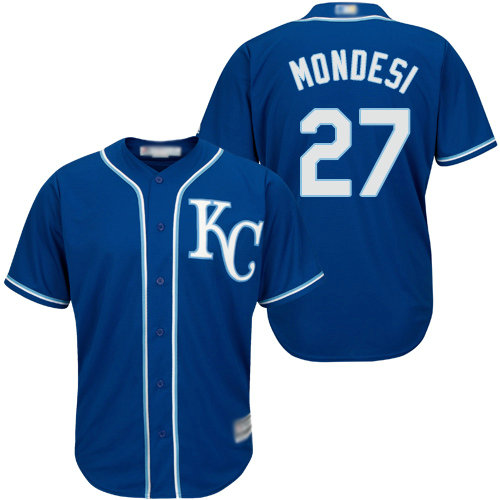 Royals #27 Raul Mondesi Blue Cool Base Stitched Youth Baseball Jersey