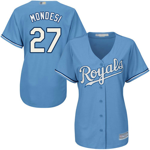 Royals #27 Raul Mondesi Light Blue Alternate Women's Stitched Baseball Jersey