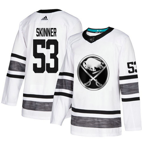 Sabres #53 Jeff Skinner White Authentic 2019 All-Star Stitched Hockey Jersey