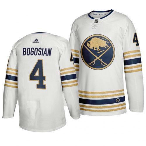 Sabres 4 Zach Bogosian White 50th Anniversary Adidas Jersey