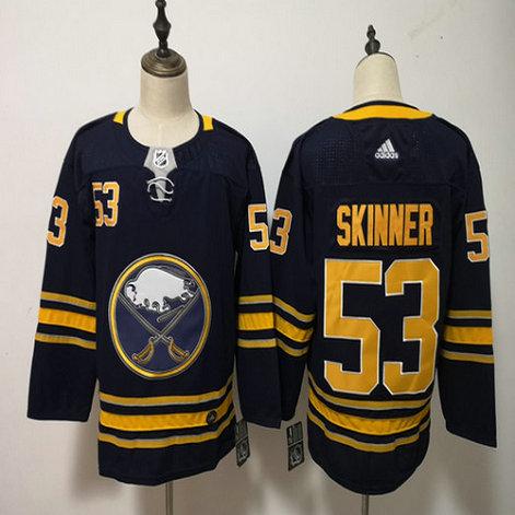 Sabres 53 Jeff Skinner Navy Adidas Jersey