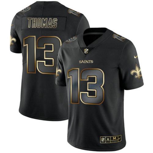 Saints 13 Michael Thomas Black Gold Vapor Untouchable Limited Jersey