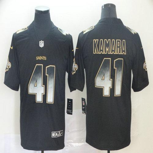 Saints 41 Alvin Kamara Black Arch Smoke Vapor Untouchable Limited Jersey