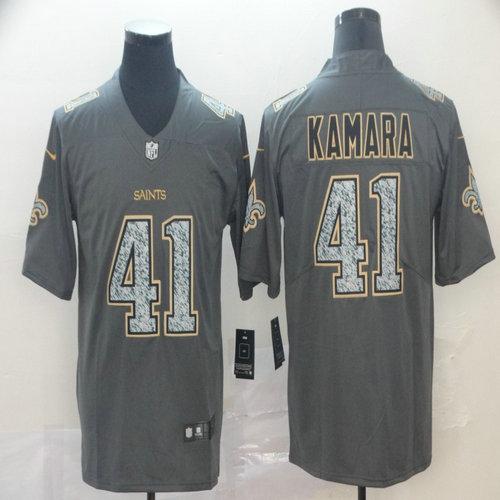 Saints 41 Alvin Kamara Gray Camo Vapor Untouchable Limited Jersey