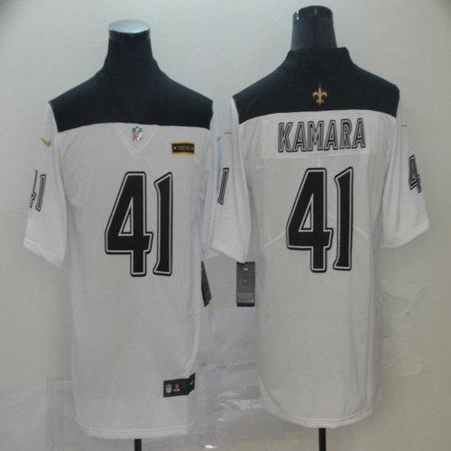 Saints 41 Alvin Kamara White City Edition Vapor Untouchable Limited Jersey
