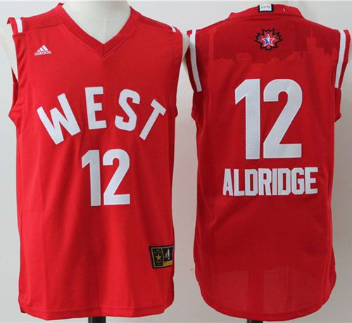 San Antonio Spurs 12 LaMarcus Aldridge Red 2016 All Star NBA Jersey
