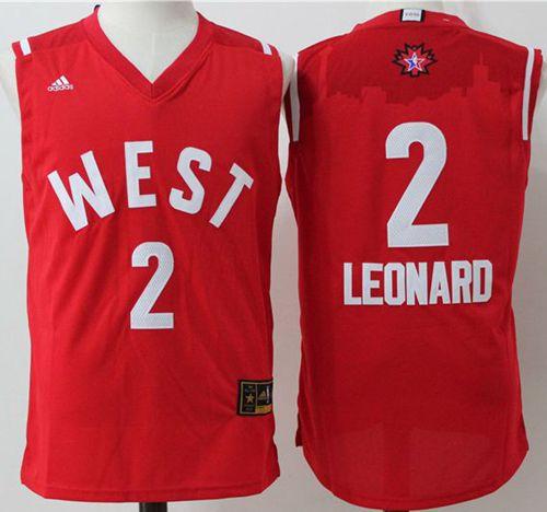 San Antonio Spurs 2 Kawhi Leonard Red 2016 All Star NBA Jersey