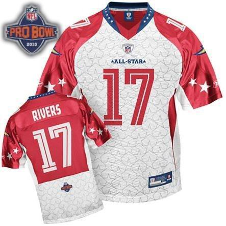 San Diego Chargers #17 Phillip Rivers 2010 Pro Bowl AFC