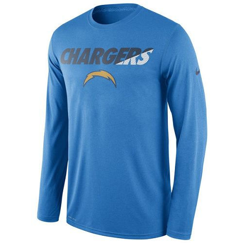 San Diego Chargers Nike Powder Blue Legend Staff Practice Long Sleeves Performance T-Shirt