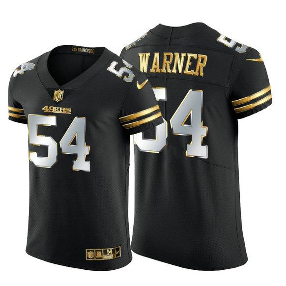 San Francisco 49ers #54 Fred Warner Men's Nike Black Edition Vapor Untouchable Elite NFL Jersey