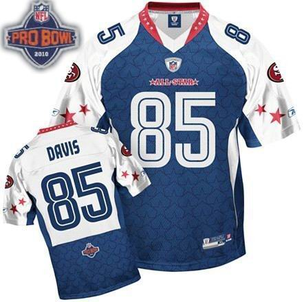 San Francisco 49ers #85 Vernon Davis 2010 Pro Bowl NFC