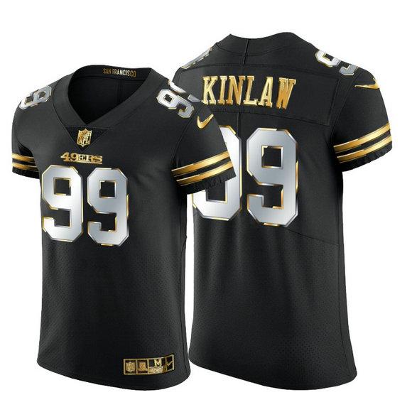 San Francisco 49ers #99 Javon Kinlaw Men's Nike Black Edition Vapor Untouchable Elite NFL Jersey