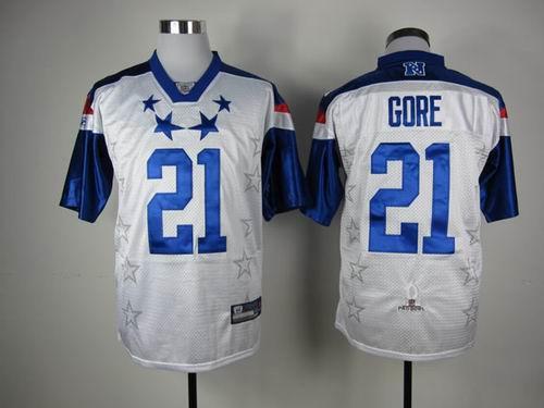 San Francisco 49ers 21 Frank Gore 2012 Pro Bowl NFC Jersey