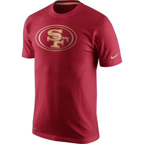 San Francisco 49ers Nike Scarlet Championship Drive Gold Collection Performance T-Shirt