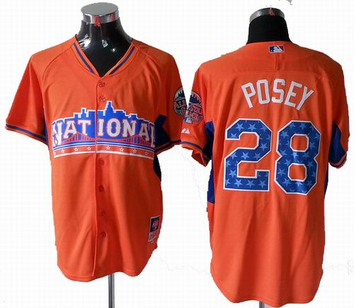 San Francisco Giants 28# Buster Posey National League 2013 All Star Jersey