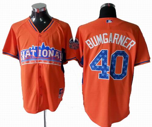 San Francisco Giants 40# Madison Bumgarner National League 2013 All Star Jersey