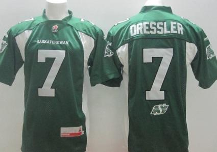 Saskatchewan Roughriders 7 Weston Dressler Green CFL Jerseys