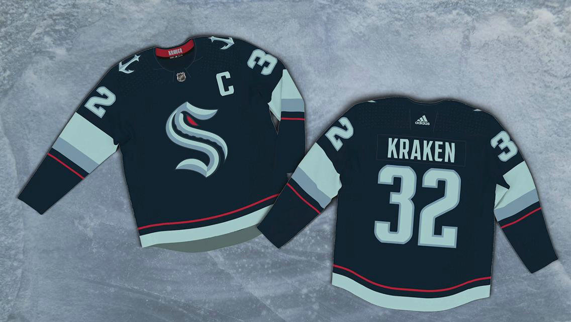 Seattle Kraken #32 Kraken Adidas 2020 New Team Navy Home Authentic Stitched NHL Jersey