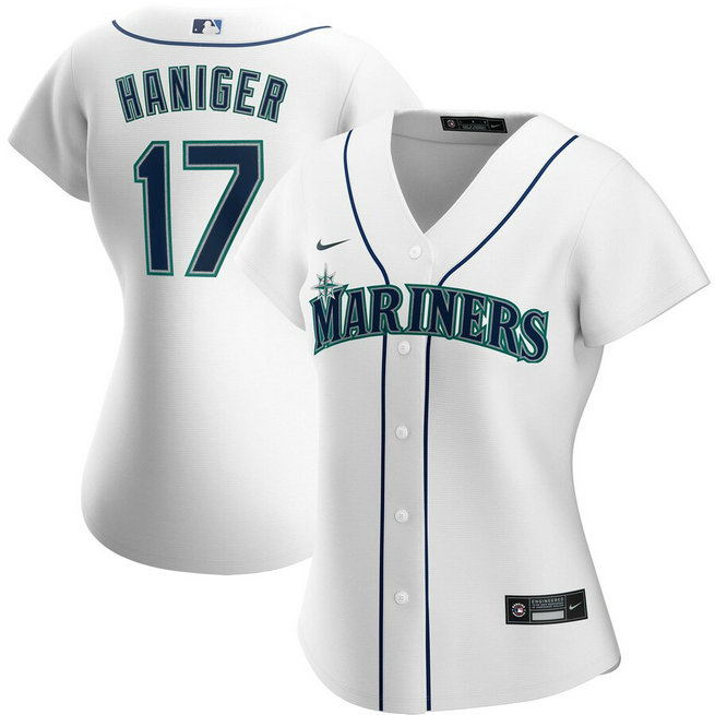 Seattle Mariners #17 Mitch Haniger Nike Women's Home 2020 MLB Player Jersey White