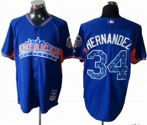 Seattle Mariners #34 Felix Hernandez American League 2013 All Star blue Jersey