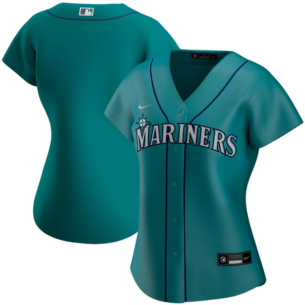 Seattle Mariners Nike Women's Alternate 2020 MLB Team Jersey Aqua